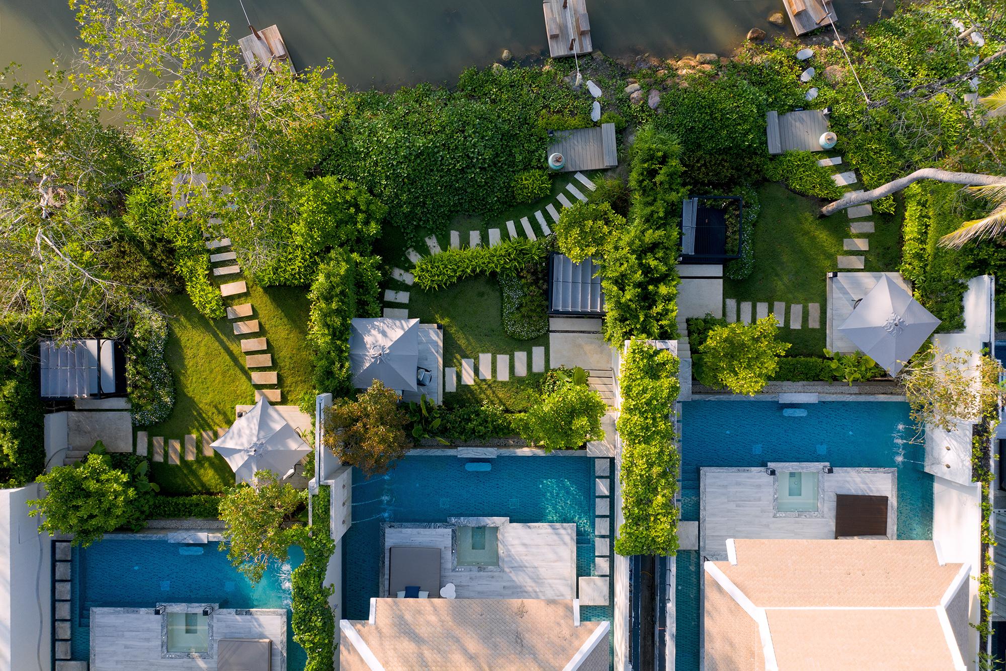 Beachfront Pool Villa Drone 3