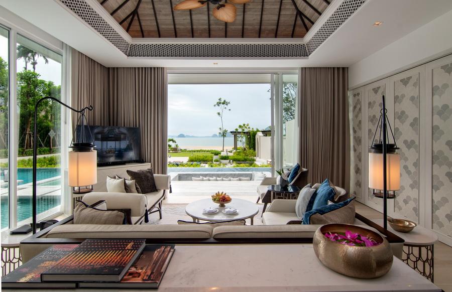 Presidential Beachfront Pool Villa_Living Area 1